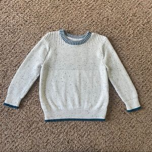 Cat & Jack White and Teal Sweater Size 4T